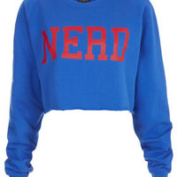 Nerd Crop Sweat - Jersey Tops  - Clothing