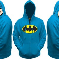 Batman All View Men&#x27;s Zip Hooded Sweatshirt