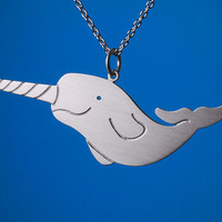 Narwhal Necklace by marymaryhandmade on Etsy