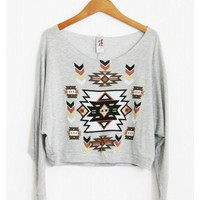Navajo Print Sweater