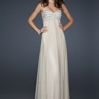 WowDresses — Appealing Ivory A-line Sweetheart Neckline Floor Length Sequins Chiffon Prom Dress
