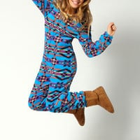 Lilly Supersoft Aztec Print Hooded Onesuit