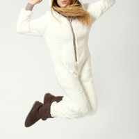 Barbara Shearling Sheep Hooded Onesuit