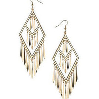 Gold Diamond Shard Chandelier Earrings - 25% off Jewelry By Diva - Accessories - Miss Selfridge US