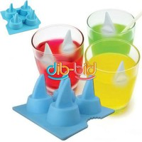 Cool Shark Fin Ice Cube Ice Maker Mold