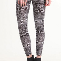Nollie Black White Tribal Leggings at PacSun.com