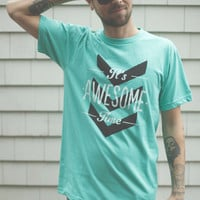 It&#x27;s Awesome Time - Unisex Mint Graphic Tee