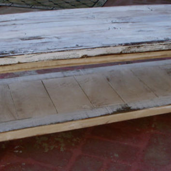 Reclaimed Wood Coffee Table Shabby Chic by honeystreasures