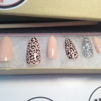Nail Me Online — Cheetah & Nude Round Stiletto Press-Ons