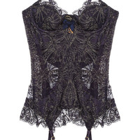 Agent Provocateur | Cordeliyah embroidered lace basque | NET-A-PORTER.COM