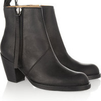 Acne|Pistol leather ankle boots|NET-A-PORTER.COM