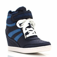 faux-leather-wedge-sneakers BLUE - GoJane.com