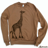Unisex GIRAFFE In High Tops Flex Fleece Pullover by ZenThreads