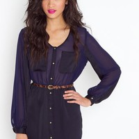 Black 'n Blue Shirtdress in Features Back In Stock at Nasty Gal