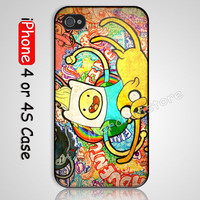 Adventure Time full color Custom iPhone 4 or 4S Case Cover