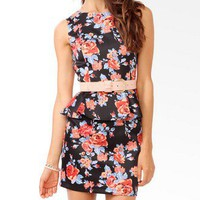 Floral Print Peplum Sheath Dress | FOREVER 21 - 2043468410