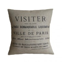 Ville De Paris Pillow Cover  on Luulla