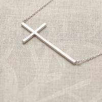 Fashion Cross Chain Necklace In Sil.. on Luulla