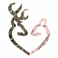Amazon.com: Camo Heart -r Deer Pink vinyl car bumper sticker 6&quot;: Everything Else