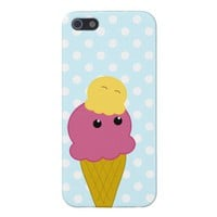 Kawaii Ice Cream Cone Cases For iPhone 5 from Zazzle.com