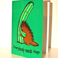 $3.50 Everybody needs Hugs Card by miketanoory on Etsy