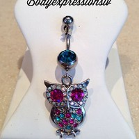 Fancy Owl Dangle Belly B...
