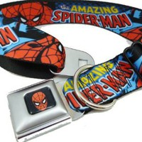 Spiderman Seat Belt Buckle Dog Collar