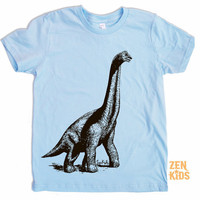 Kids T Shirts  Light Blue DINOSAUR Shirt  Kid Shirt by ZenKids