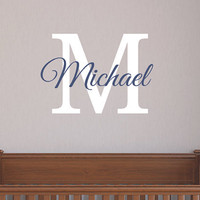 Boys Personalized Name Vinyl Wall Decal - Monogrammed Vinyl Wall Lettering - Boys Room Decor - Teen Decor - Baby Nursery