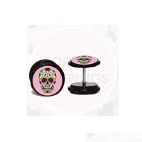 Sugar Skull Fake Plugs by Forever Fake Plugs