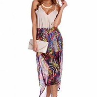 Purple Multi Printed High Asymmetrical Elastic Waist Skirt @ Amiclubwear Clothing Skirts Online Store:Long Skirt,Mini Skirts,Poodle Skirt,Plaid Mini Skirt,Micro Mini Skirt,Jeans Skirts,Black Mini Skirt,Up Skirt,Short Skirts,Leather Skirts,Pencil Skirts,Hi