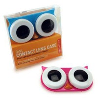 Amazon.com: Kikkerland Owl Contact Lens Case, Assorted Colors, Pink/Blue/Green: Health &amp; Personal Care