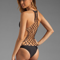 Mikoh Swimwear Xavier One Piece in Night from REVOLVEclothing.com
