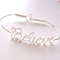 Wire Name Bracelet with your favorite NAME or WORD . Name Bracelet . Personalized Bracelet . Wire Name Jewelry