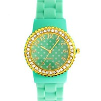 Polka Dot Rubber-Link Watch: Charlotte Russe