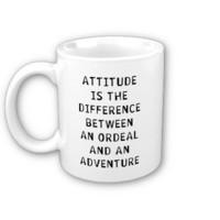 Attitude Difference Coffee Mug from Zazzle.com