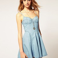 ASOS | ASOS Strappy Chambray Sundress at ASOS