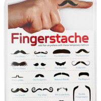 Fingerstache Tattoo Pack