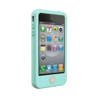 Switcheasy Colors Silicone Case for 4 4s (Mint Blue):Amazon:Cell Phones &amp; Accessories