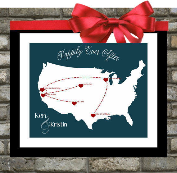 Custom Wedding Gift For Husband : Personalized Wedding Gift. Custom Map. Anniversary Gifts For Husband ...