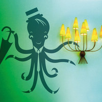 Octopus Vinyl Decal - Available in 25 Colors