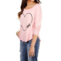 Blush/Back Infinite Love Top