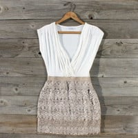 Tucked Lace Dress, Sweet Women&#x27;s Country Clothing