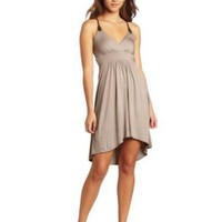 Amazon.com: Wrapper High-Low Braid-Embellished Jersey Dress: Clothing