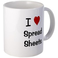 I Love Spreadsheets Mug - Office Mug on CafePress.com
