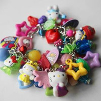 Hello Kitty Gumball Charm Bracelet by afairydoor on Etsy