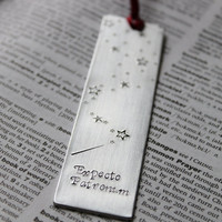 Metal Stamped Personalised Bookmark - Expecto Patronum
