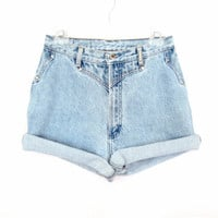 90&#x27;s High Rise Studded denim shorts size - M - Waist 30&quot;
