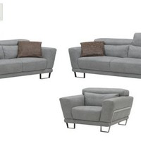 Buy Elephant Grey Leather Living Room Set Exos at Discount Furniture