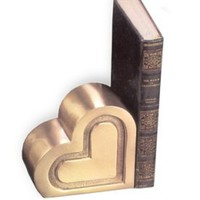 Brass Bookend | Heart Bookends